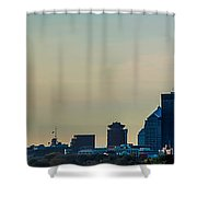 Rochester Ny Panorama At Dusk Shower Curtain