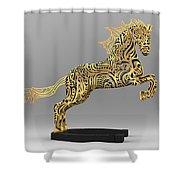 Rocinante Bronze Sculpture Shower Curtain