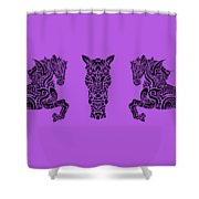 Rocinante Horses 2 Shower Curtain