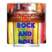 Rock And Roll Jukebox Shower Curtain