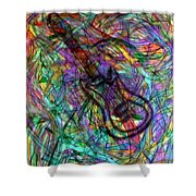 Rock And Roll Party Shower Curtain
