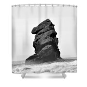 Rock At Morro Bay Shower Curtain