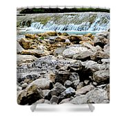 Rock Bed Shower Curtain