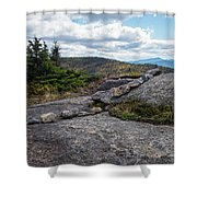 Rock Boundaries On Casecade Mountain Keene Ny New York Shower Curtain