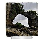 Rock Bridge At Neil Island Shower Curtain