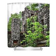 Rock Castle Fireplace Shower Curtain