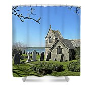 Rock Church Cornwall Shower Curtain