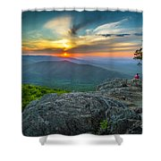 Rock Climbing At Ravens Roost Shower Curtain