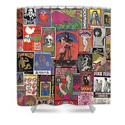 Rock Concert Posters Collage 1 Shower Curtain