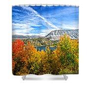 Rock Creek Lake Fall Panorama Shower Curtain