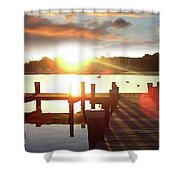 Rock Creek Morning Shower Curtain