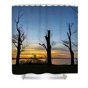 Rock Creek Silhouette Shower Curtain