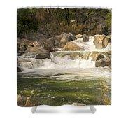 Rock Creek White Water Shower Curtain