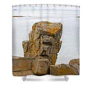 Rock Face Shower Curtain