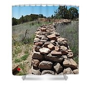 Rock Fence Shower Curtain