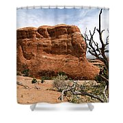 Rock Fin -- Arches National Park Shower Curtain