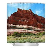 Rock Formation Of La Sal Mountains Shower Curtain