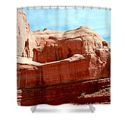 Rock Formation Of Red Sandstone Arches National Park Shower Curtain