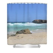 Rock Formation On Boca Keto On The Island Of Aruba Shower Curtain