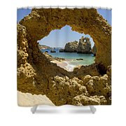 Rock Formations, Albufeira Shower Curtain