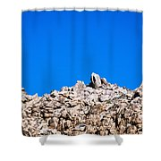 Rock Formations And Blue Sky Shower Curtain