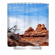 Rock Formations At Kodachrome Basin State Park, Usa Shower Curtain