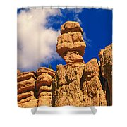 Rock Formations, Bryce National Park Shower Curtain
