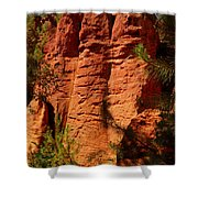 Rock Formations Created By Erosion Shower Curtain
