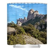 Rock Formations Montserrat Spain II Shower Curtain