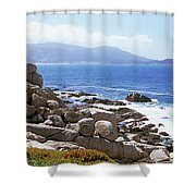 Rock Formations On The Coast, 17-mile Shower Curtain