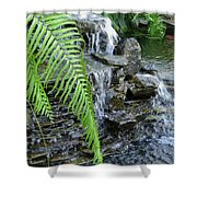 Rock Fountain II Shower Curtain