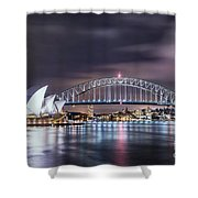 Rock Into The Night Shower Curtain