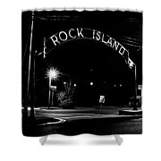 Rock Island Entrance Shower Curtain