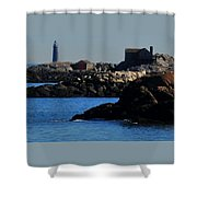 Rock Islands And Minots Light Shower Curtain