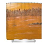 Rock Lake Morning 2 Shower Curtain
