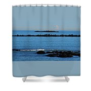 Rock Ledges And Calm Seas Shower Curtain