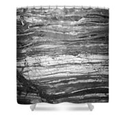 Rock Lines B W Shower Curtain