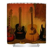 Rock N Roll Guitars Shower Curtain
