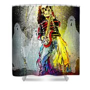 Rock N Roll The Bones Shower Curtain