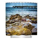 Rock Pier Shower Curtain