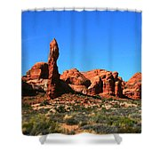 Rock Pillar Sandstone Hoodoos Arces National Park Shower Curtain