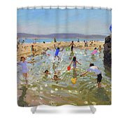 Rock Pool, Tenby Shower Curtain