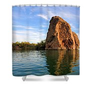 Rock Reflected Shower Curtain
