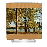 Rock River In October Shower Curtain
