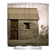 Rock Shed 2 Shower Curtain