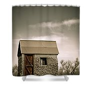 Rock Shed Shower Curtain