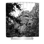 Rock Spirits At Yosemite B And W Shower Curtain