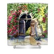 Rock Springs Gate Shower Curtain