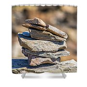 Rock Stack Shower Curtain