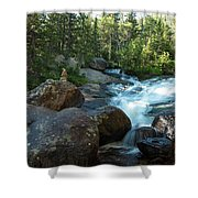 Rock Stack Falls Shower Curtain